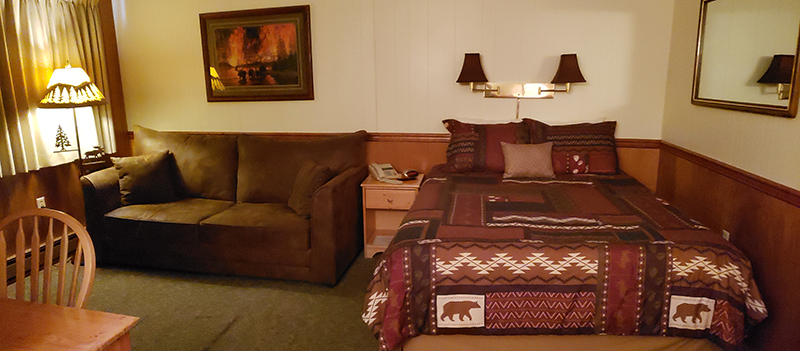 Lodge bed and couch