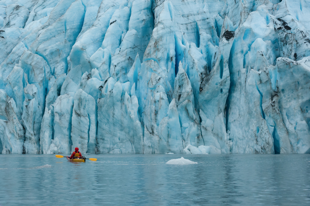 Photo of a Kenai Fjords Kayaking Tour Near a Glacier